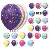 Ballons de baudruche métallisés avec chiffres 5 pcs