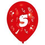 """8 ballons multicolores """"Fête d'anniversaire"""" - 5"""