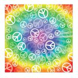 "Bandana multicolore ""Peace"" 57 cm"