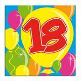 "20 serviettes Ballons ""18 ans"""