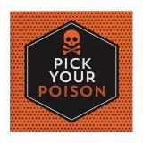 "16 serviettes cocktail poison ""Scary Halloween"""
