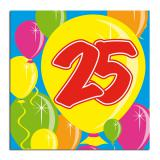 "20 Serviettes Ballons Happy Birthday ""25 ans"""