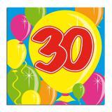 "20 Serviettes Ballons ""30 Ans"""
