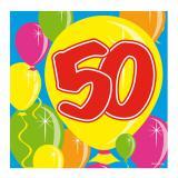 "20 Serviettes Ballons ""50 ans"""