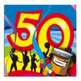 """20 serviettes Super Pêche """"50 ans"""""""