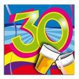"""20 Serviettes """"Soirée festive - 30 ans"""""""