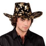 """Chapeau de cowboy """"Tête de mort pirate"""""""