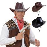 Chapeau de cowboy en cuir synthétique