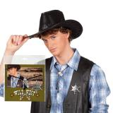 """Set pour cow-boy """"Étoile de shérif et bolo"""" 2 pcs"""