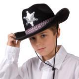 """Chapeau de cowboy """"Shérif"""" pour enfant - noir"""