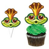 """Cupcake Deko """"Königlicher Frosch"""" 10er Pack"""