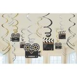 "Déco de plafond ""Hollywood"" 12 pcs"