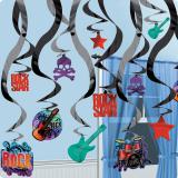 "Déco de plafond ""Rock star"" 25 pcs 60,9 cm"