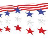 """Déco de plafond """"Stars & Stripes"""" 370 cm"""