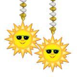 """2 suspensions """"Soleil cool"""" 76 cm"""