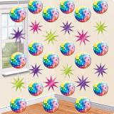 "Décos de plafond ""Disco Party"" 210 cm 6 pcs"
