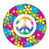 """Suspension """"Flower power et peace & love batik"""""""
