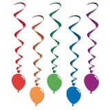 "5 suspensions spirales ""Ballons"""