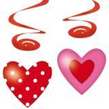 """Décos à suspendre """"Sweet Love"""" 80 cm 4 pcs"""