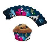 """Contours décoratifs pour muffins """"Halloween"""" 12 pcs"""