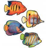 """Décos """"Poissons coralliens"""" 41 cm 4 pcs"""