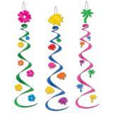 """3 suspensions spirales """"Luau""""  76 cm"""