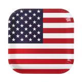"""10 assiettes carrées en carton """"USA"""""""
