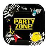 """6 assiettes carrées en carton """"Party-Zone"""""""