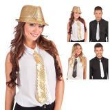 Cravate avec paillettes