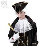 Chapeau tricorne avec bordure dorée - noir