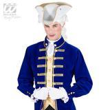 Chapeau tricorne avec bordure dorée - blanc