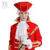 Chapeau tricorne avec bordure dorée - rouge