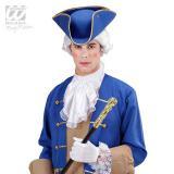 Chapeau tricorne avec bordure dorée - bleu