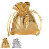 6 petits sacs unicolores brillants