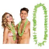 25 colliers à fleurs unicolores - vert