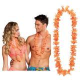25 colliers à fleurs unicolores - orange
