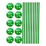 10 tiges unicolores pour ballon avec embouts - vert