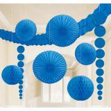 """Déco de salle unicolore """"Colours"""" 9 pcs. - bleu"""