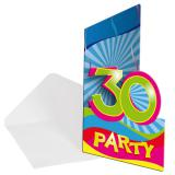 "8 cartons d'invitation ""30 Ans"""