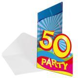 "8 cartons d'invitation ""50 ans"""