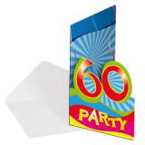 "8 cartons d'invitation ""60 Ans"""