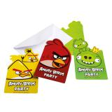 "6 cartons d'invitation avec enveloppes ""Angry Birds"""