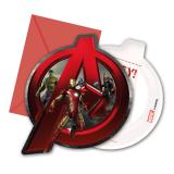 "6 cartons d'invitation ""Avengers - Age of Ultron"""