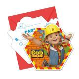 """6 Cartons d´invitation """"Bob le bricoleur - Nouvelles aventures""""  avec enveloppes"""