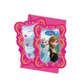 "6 cartons d'invitation ""La Reine des neiges - Disney"""