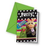 """6 cartons d'invitation """"Les Muppets"""" avec enveloppes"""