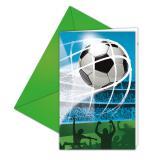 "6 cartons d´invitations avec enveloppes ""Fan de football"""