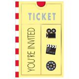"8 cartons d'invitation ""Hollywood"""