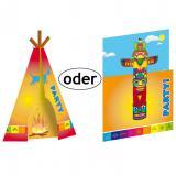 """Cartons d'invitation """"Indien"""" avec enveloppes 8 pcs"""