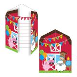 """Einladungskarten """"Meine kleine Farm"""" 8er Pack"""